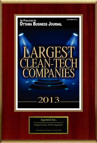"Agrinol, Inc. Selected For ""Largest Clean -Tech Companies"".  (PRNewsFoto/Agrinol, Inc.)"