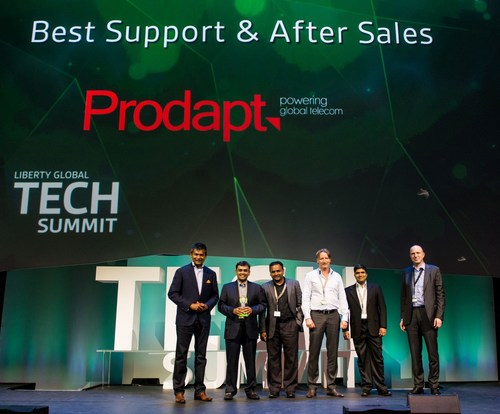 Prodapt Wins the Liberty Global Vendor Award for the Best Support and After Sales Category (PRNewsFoto/Prodapt ...