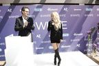 Global 3D White ambassador Shakira with P&G Global Brand Director Stephen Squire at the launch of 3D White Whitestrips in Barcelona on Saturday 9th May