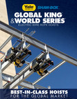Yale Global King and Shaw-Box World Series wire rope hoists are built for global appeal. Manufactured in Wadesboro, North Carolina, the Global King and World Series hoists are some of the most competitive wire rope hoists on the market today. With industry-leading safety features, flexible configurations and a variety of options, including longer lifts, fast shipping, special control options and features for hazardous environments, these hoists are designed for ease of use and long life.