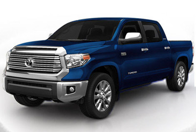 The new 2014 Toyota Tundra is available for test drivers and more at the Toyota of Naperville showroom. It is also ready to go toe to toe with the Ram 1500.  (PRNewsFoto/Toyota of Naperville)