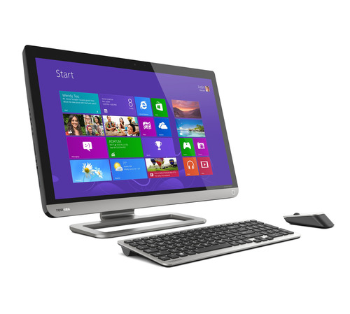 Toshiba's PX35t All-In-One Touchscreen Desktop is a PC and multimedia machine combined into one sleekly designed system.  (PRNewsFoto/Toshiba America Information Systems, Inc.)