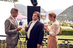 Nespresso brand ambassador George Clooney and his latest co-star Jack Black soak up the beautiful surroundings of Lake Como as they film the new Nespresso commercial. For more information visit www.nespresso.com/whatelse (PRNewsFoto/Nestle Nespresso SA)