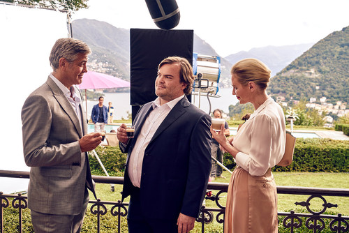 Nespresso brand ambassador George Clooney and his latest co-star Jack Black soak up the beautiful surroundings of Lake Como as they film the new Nespresso commercial. For more information visit  www.nespresso.com/whatelse (PRNewsFoto/Nestle Nespresso SA) (PRNewsFoto/Nestle Nespresso SA)