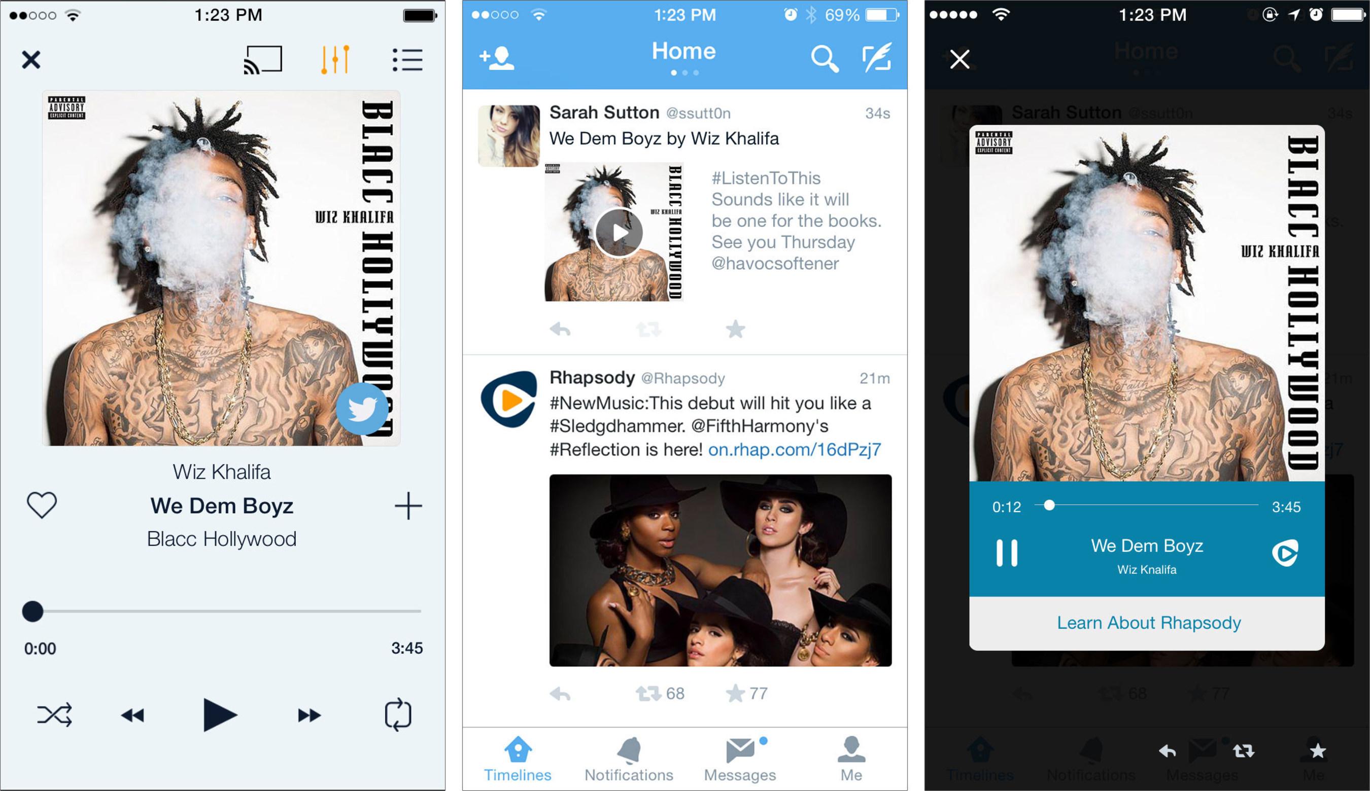 Rhapsody Brings Millions of Licensed Songs to Twitter