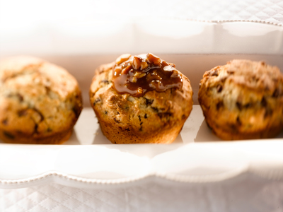 Martha White Chocolate Chip Toffee Muffins with Caramel Topping.  (PRNewsFoto/Martha White)