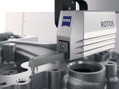 ZEISS ROTOS roughness sensor on coordinate measuring machine
