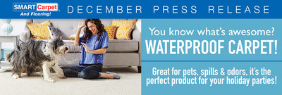 Great for pets, spills and odors, waterproof carpet is the perfect product for your holiday parties.