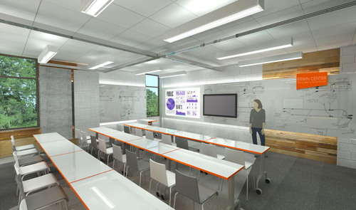 Rendering of new classroom space showcases the latest technology, including video-conferencing capability so students can communicate with industry professionals. (PRNewsFoto/Erwin Penland)