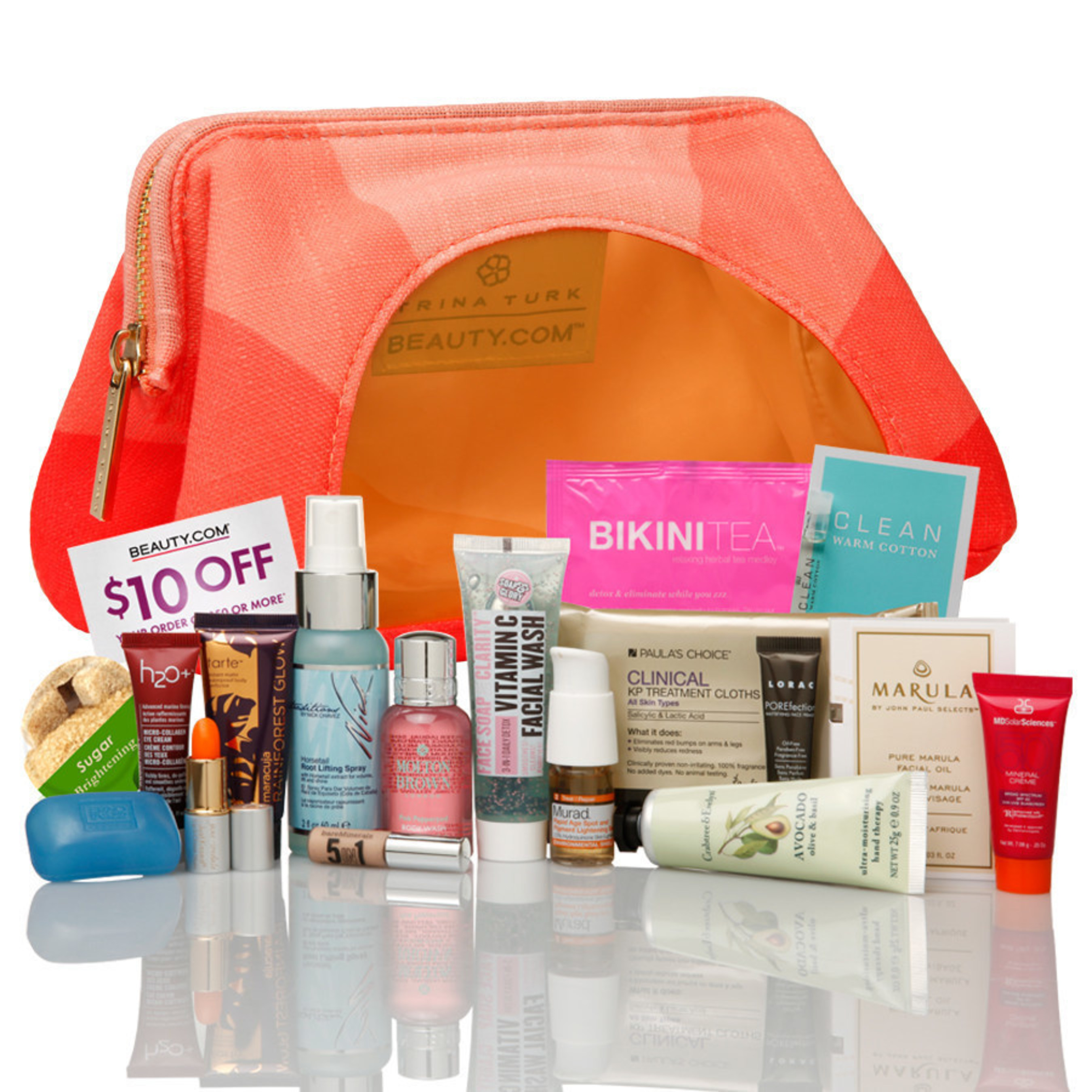 Beauty.com(R) Debuts Trina Turk's Sunset Cosmetic Pouch as Summer Gift with Purchase