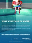 """Example of creative execution in the new """"What's the Value of Water?"""" toolkit, by the Value of Water Coalition."""