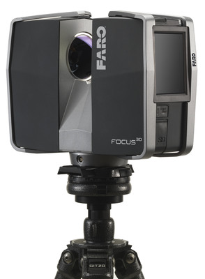 FARO Launches the Focus3D, The Smallest & Lightest 3D Laser Scanner Ever Built.  (PRNewsFoto/FARO Technologies, Inc.)