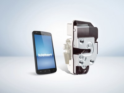 Kiekert's Beta latch platform is comparable to the size of a smartphone.