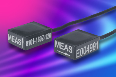 Compact, Plug-n-play Accelerometer from Measurement Specialties Available in Two Dynamic Ranges. (PRNewsFoto/Measurement Specialties, Inc.) (PRNewsFoto/MEASUREMENT SPECIALTIES, INC.)
