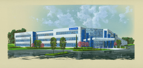 Faurecia North America today announced more details of its plans for a new headquarters building in Auburn ...