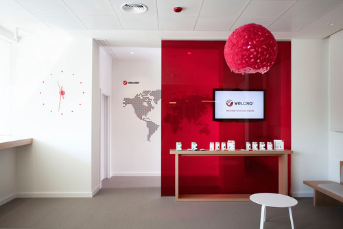 The Barcelona office was transformed and refurbished by incorporating actual VELCRO(R) Brand products in the decor. Similar renovations are planned for offices in New Hampshire and China. The redesigned office was spearheaded by Luis Eslava of Luiseslava Studio.  (PRNewsFoto/Velcro Industries)