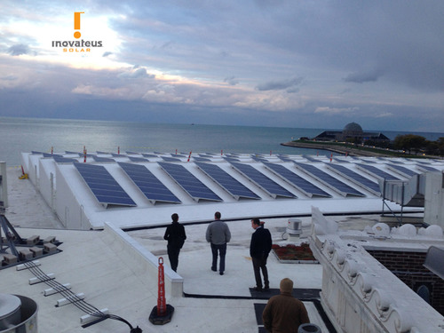 Inovateus Solar LLC installed the solar systems at Chicago's Shedd Aquarium to launch the first phase of the institution's clean-energy initiative. (PRNewsFoto/Inovateus Solar LLC) (PRNewsFoto/INOVATEUS SOLAR LLC)