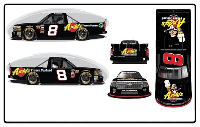 Andy's Frozen Custard, America's largest frozen custard-only chain today announced their title sponsorship for the #8 Camping World Truck Series' points leader, John Hunter Nemechek.Nemechek will be driving in the Toyota Tundra 250 NASCAR Truck Series race, on Friday, May 6, 2016 at 8:30 p.m. (EDT) on FOX Sports 1 (FS1) at Kansas Speedway.
