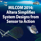 Altera will demonstrate its programmable logic technology and military system solutions at MILCOM, October 6-8, at the Baltimore Convention Center. (PRNewsFoto/Altera Corporation)