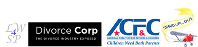 LW4SP, Divorce Corp, ACFC and Stand Up for Gus logos.