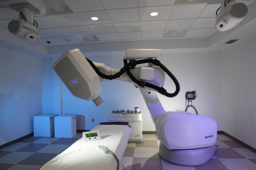 The CyberKnife treatment room at New Jersey CyberKnife. More than 460 patients have been treated at the center since it opened in 2011 as part of the J. Phillip Citta Regional Cancer Center at Community Medical Center. (PRNewsFoto/New Jersey CyberKnife)