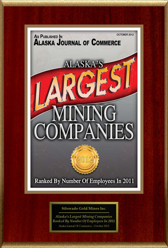 Silverado Gold Mines Inc. Selected For 'Alaska's Largest Mining Companies'