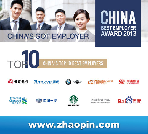 Zhaopin.com CEO Presents Report on China's Job Market at China Best Employer Awards Event