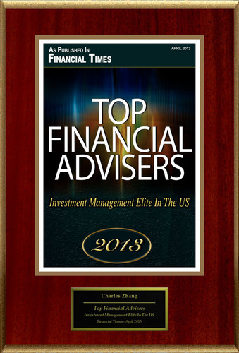 "Charles Zhang Selected For ""Top Financial Advisers"".  (PRNewsFoto/American Registry)"