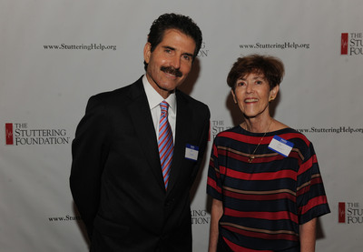 John Stossel, Fox News, and Jane Fraser, president of the Stuttering Foundation, on Tuesday, May 8, at the New York City gala celebrating National Stuttering Awareness Week.  (PRNewsFoto/Stuttering Foundation)