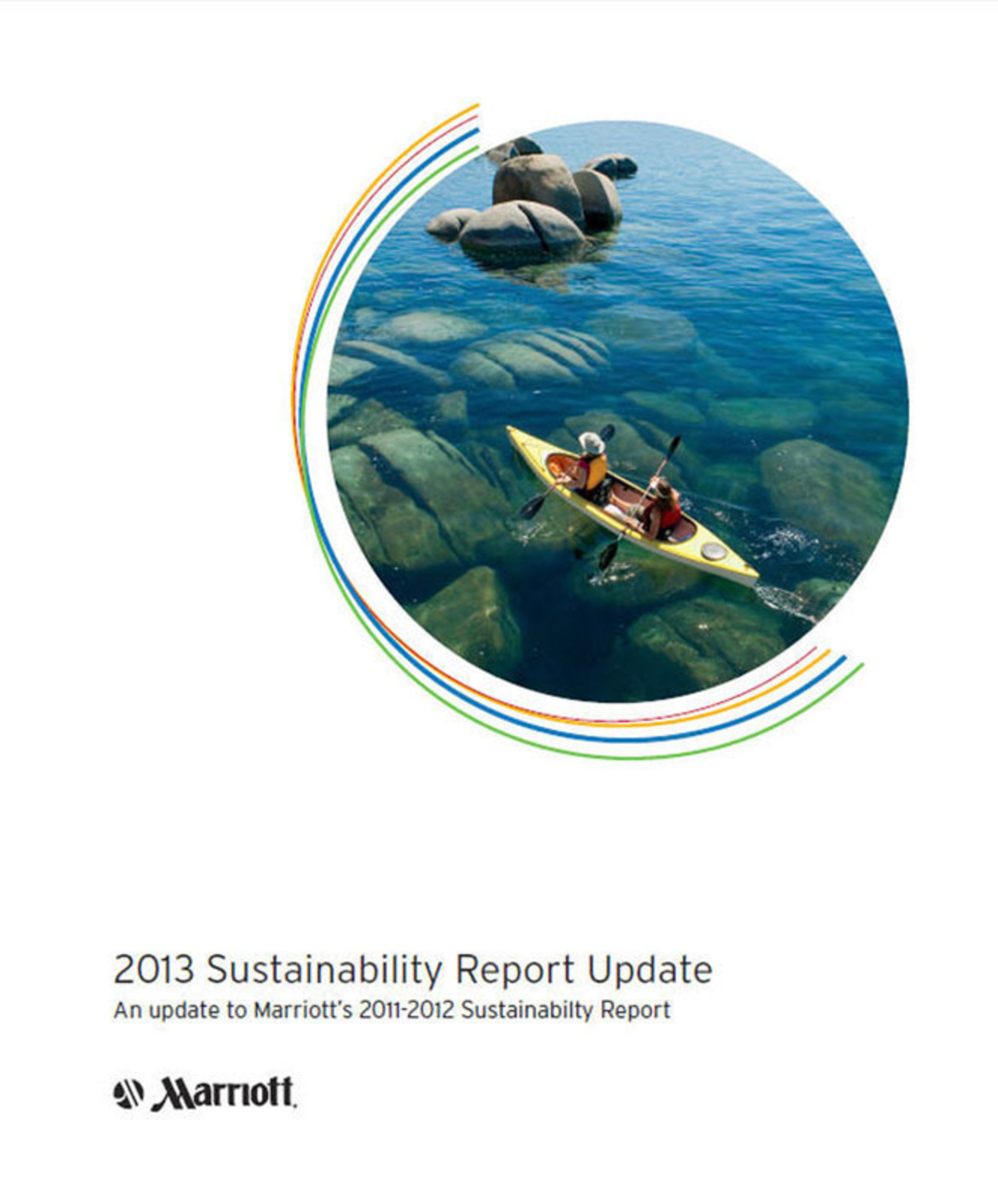 In its just-released 2013 Sustainability Report Update, which updates the company's 2011-2012 Sustainability Report, Marriott noted substantial progress in job creation in underserved and emerging markets.  (PRNewsFoto/Marriott International, Inc.)
