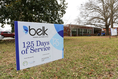 Belk associates completed more than 300 school makeovers during 125 Days of Service.