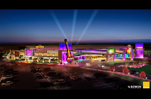 "Hard Rock International -- owner of one of the world's most recognized, iconic brands -- announces the first ever ""Rocksino,"" its newest gaming brand, to be located in Northfield, Ohio at Northfield Park racetrack.  (PRNewsFoto/Hard Rock International)"