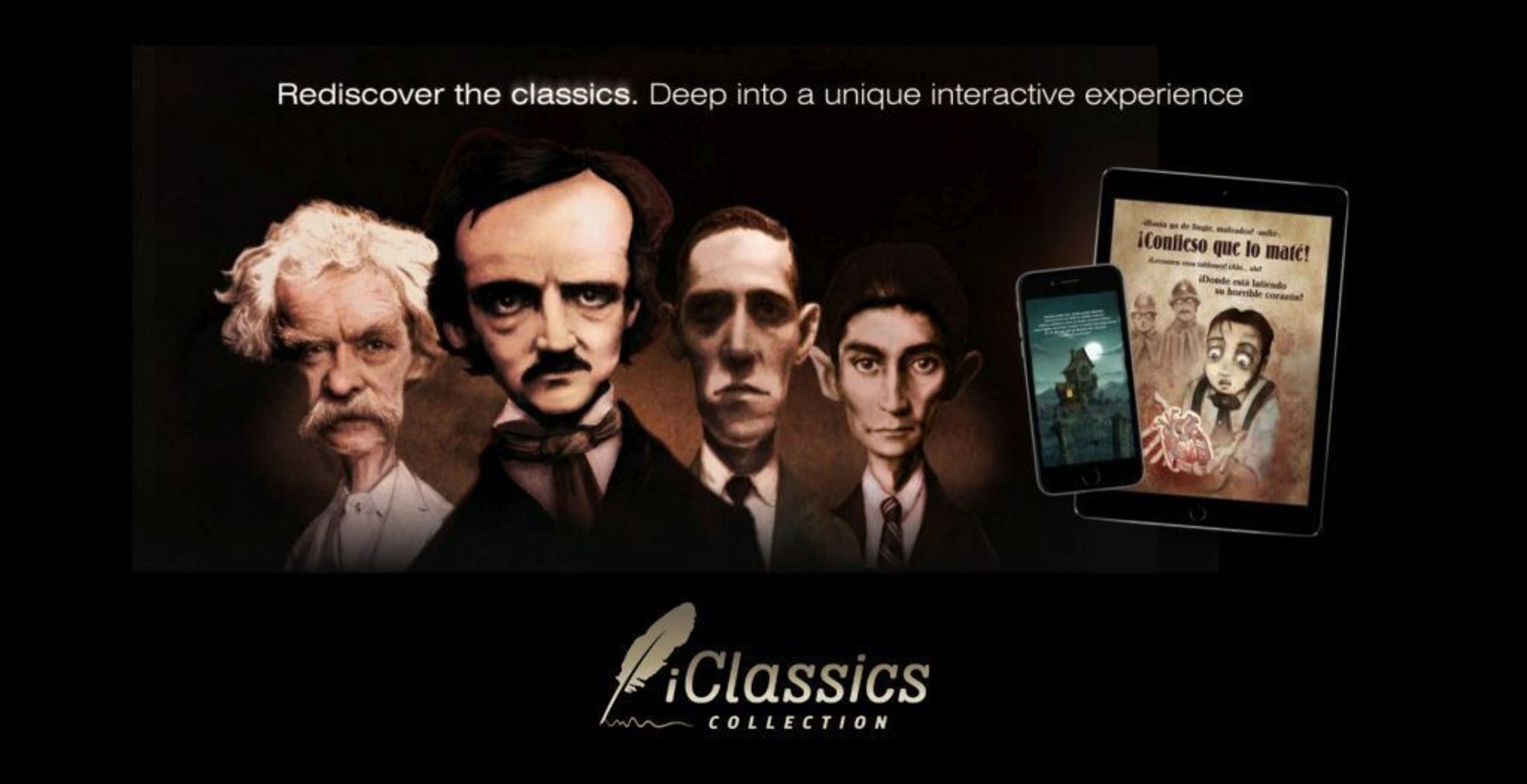 iClassics collection brings classic literature alive for new generations through entertainment and the use of cutting edge technologies. (PRNewsFoto/iClassics Productions SL)