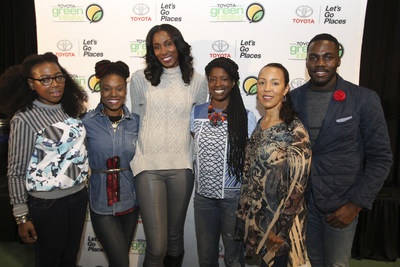 Eco-mom, former WNBA MVP and Olympic gold medalist joins Toyota Green Initiative for TGI Serve at SWAC Basketball Tournament (Photo: Soul Brother)