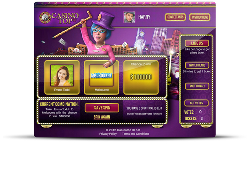 Spin to Win - the world's first social casino slot machine game