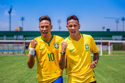 On the heels of scoring the second goal for FC Barcelona and capturing the team's 28th Copa del Rey victory title, Neymar Jr. comes face to face with his new Madame Tussauds wax figure. The world-famous Brazilian footballer met his wax figure this week at a private unveiling at FC Barcelona's training ground Ciutat Esportiva Joan Gamper in Spain. The new figure will travel to its permanent home, in Madame Tussauds Orlando in Orlando, Fla., this summer.