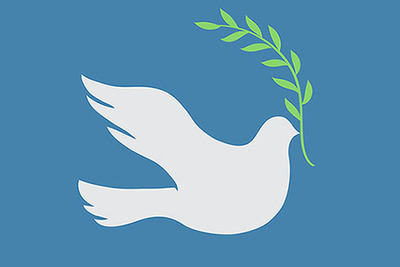 Dove with olive branch from http://www.shutterstock.com.  (PRNewsFoto/Carnegie Council for Ethics in International Affairs)