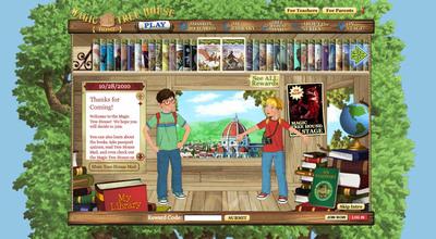 New MagicTreeHouse.com Web site.  (PRNewsFoto/Random House Children's Books)