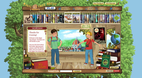 Random House Children's Books Launches All-New MagicTreeHouse.com, the Official Web Site for the
