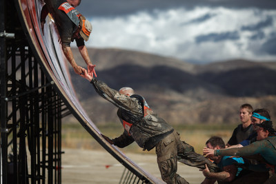 "A slicked quarter pipe ""Everest"" is among the signature Tough Mudder obstacles that have been redesigned to further promote teamwork, complementing another ten exhilarating new obstacles that will hit Tough Mudder courses in 2015."