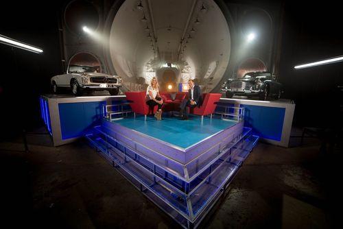 The Classic Car Show TV studio at Brooklands Racing Circuit, UK (PRNewsFoto/The Classic Car Show)