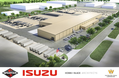 Rendering for new Spartan Motors plant - Charlotte, Mich.