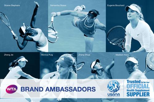 USANA's WTA Brand Ambassadors. (PRNewsFoto/USANA Health Sciences, Inc.) (PRNewsFoto/USANA HEALTH SCIENCES, ...