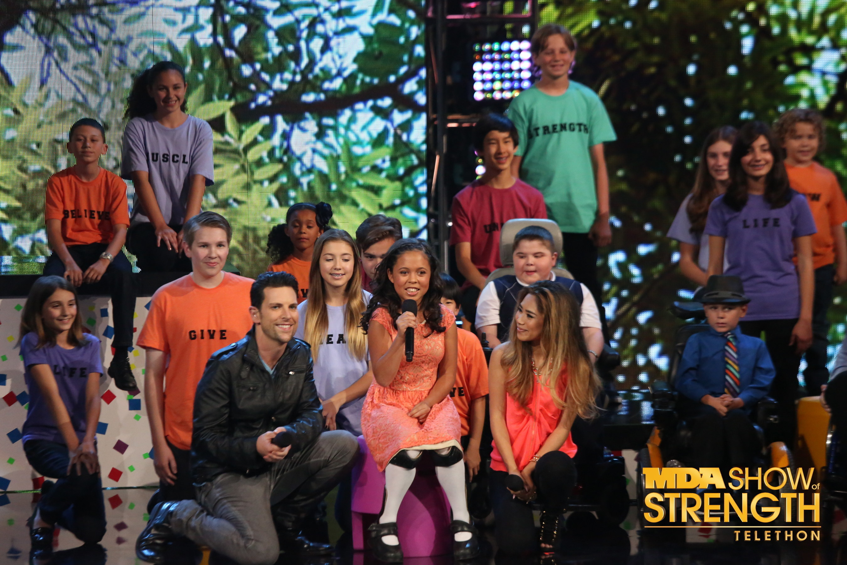 Chris Mann and Jessica Sanchez were among the stars who shared their talents on the 2013 MDA Show of Strength Telethon.