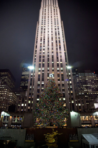 The Rockefeller Center Christmas tree has been donated to Habitat for Humanity every year since 2007. The 2010 Christmas tree (pictured) was used to build a home in Newburgh, N.Y.  (PRNewsFoto/Habitat for Humanity International)