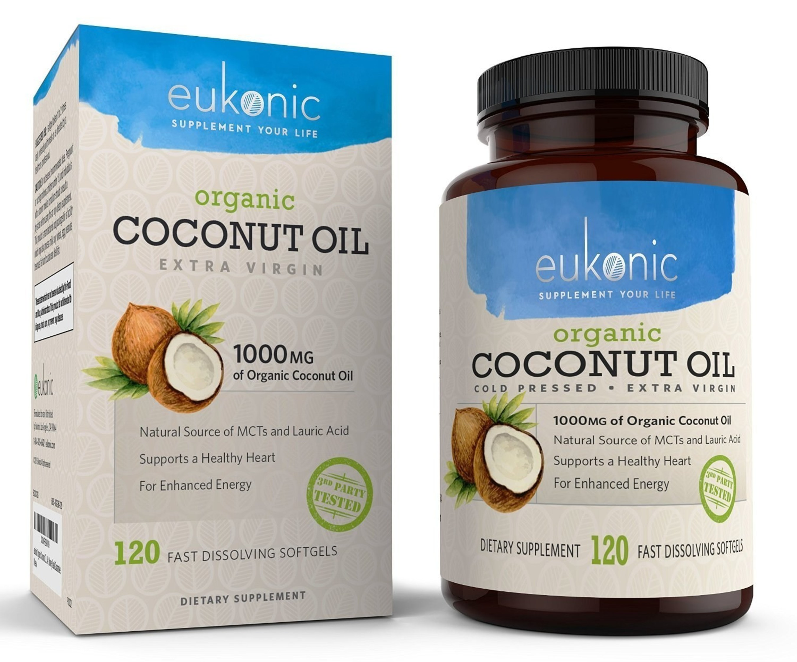 Eukonic Supplements Announces New Line of Coconut Oil Capsules