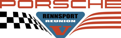 The official logo for Porsche Rennsport Reunion V