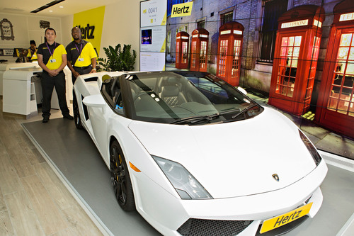 Hertz launches redesigned facilities in San Diego and central London's Marble Arch.  (PRNewsFoto/The Hertz ...