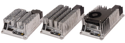 Introducing Delta-Q's IC Series Industrial Battery Chargers. From left to right, they are: IC650, IC900 and IC1200.