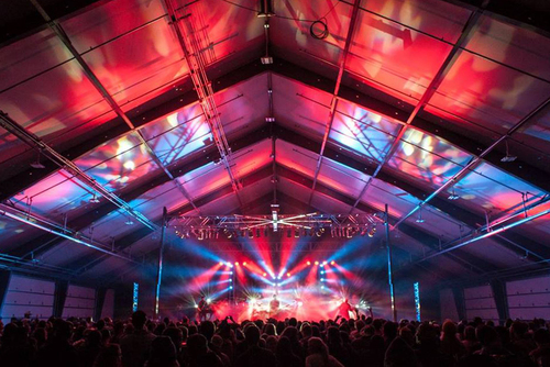 Multi-purpose fabric facility hosts a year-round farmers's market and exciting concert venue. ...